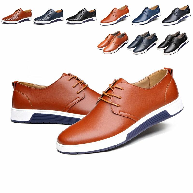 シューズ メンズ ビジネスシューズ スニーカー 厚底 ブーツ カジュアル レザーシューズ PUレザー ローカット 無地 靴 メンズ靴 短靴 シンプル 通勤 通学アウトドア ランニング  歩きやすい 9color