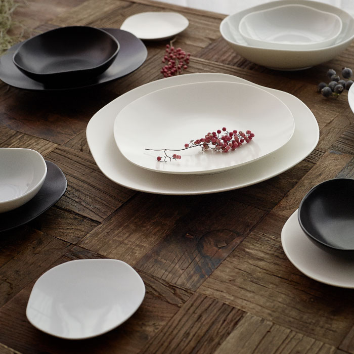 Feuille Four Points Plate Set Mat The Stylish Gift Present Which Has A Cute Plate Tableware Partition Plate Serving Plate Dish Spice Earthenware