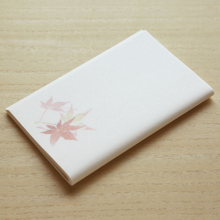 めでたや季節の和紙懐紙 紅葉 もみじ 茶道 懐紙 在庫限り 爆安 照葉 和菓子