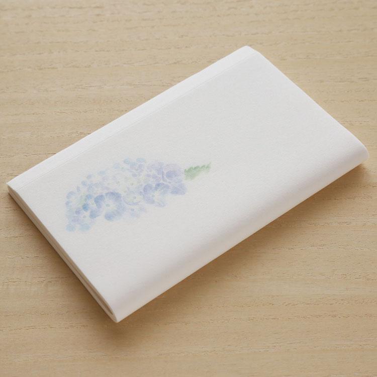 めでたやお茶席 身だしなみ 日時指定 和紙 懐紙 紫陽花 茶道 2020モデル 青 和菓子 あじさい