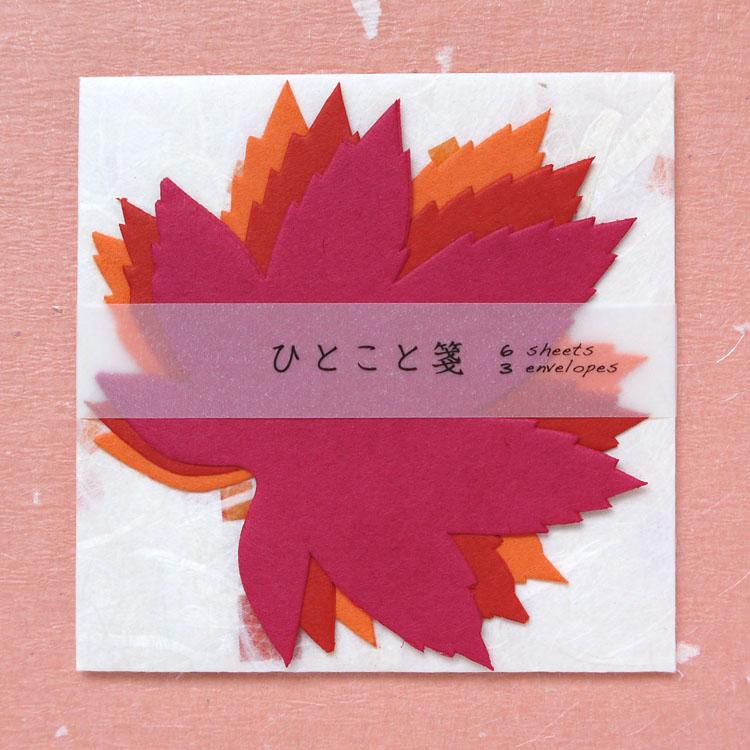 新登場 めでたや色が重なる和紙の一言便箋 メモ いろはもみじ ひとこと箋 売れ筋