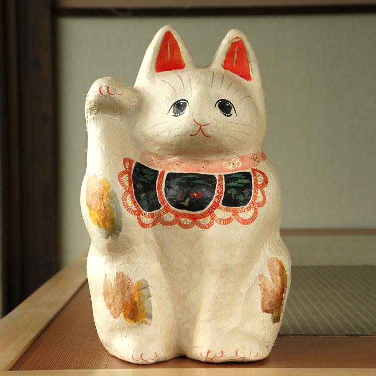 張り子 特大 招き猫【送料無料】