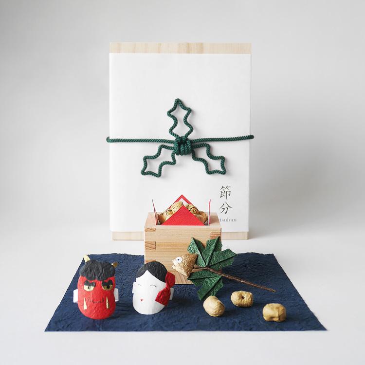 めでたや節分飾り ミニチュア 室礼 しつらい 暦箱 開店記念セール セール価格 置物 飾り 節分