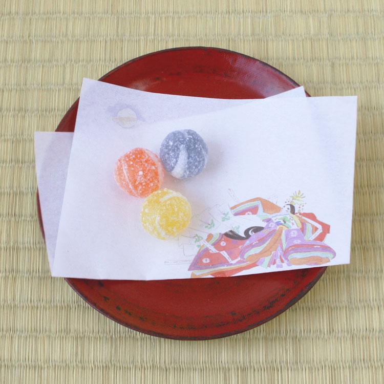 めでたや昔話 かぐや姫 和紙懐紙 希望者のみラッピング無料 代引き不可 おはなし懐紙 和菓子 茶道