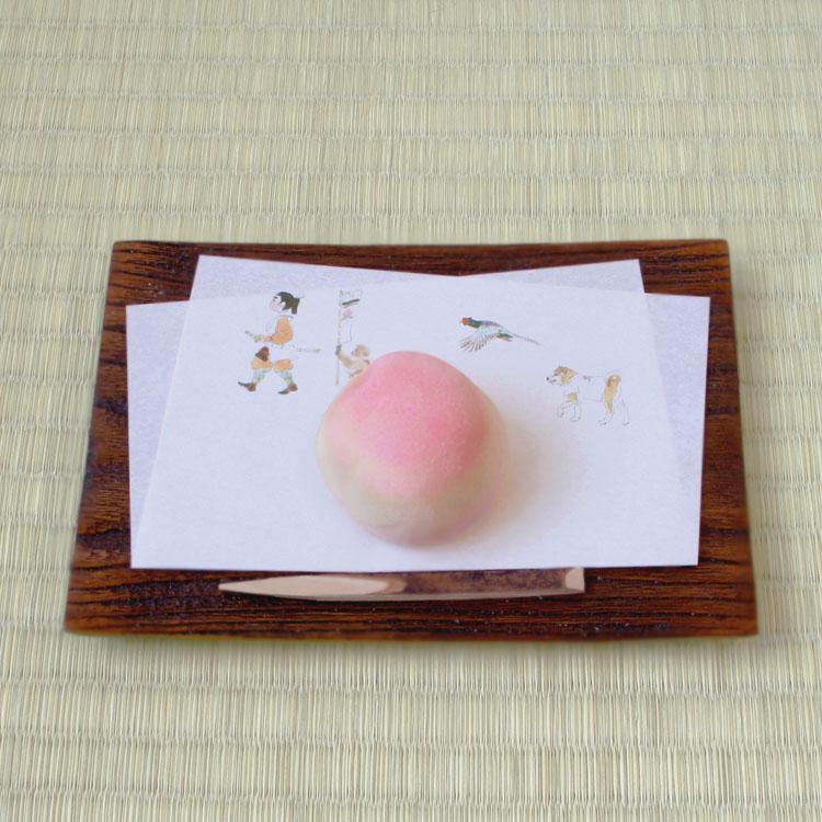 数量は多 めでたや昔話 ももたろう 和紙懐紙 茶道 おはなし懐紙 超安い 和菓子 桃太郎