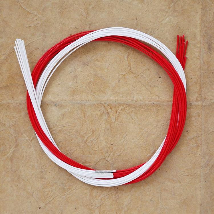 めでたや和紙 和雑貨 折形 細工  水引パック染分 赤×白