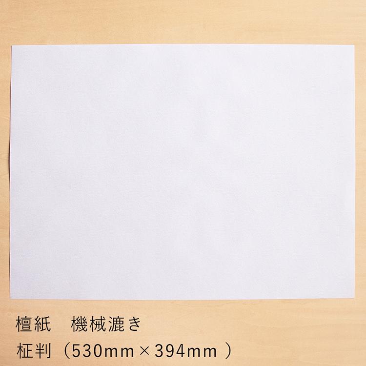 和紙 折形 金封 画材用紙 お祝い 目録 正月 祝儀袋 命名紙 檀紙 機械漉き柾判(まさばん・530mm×394mm )