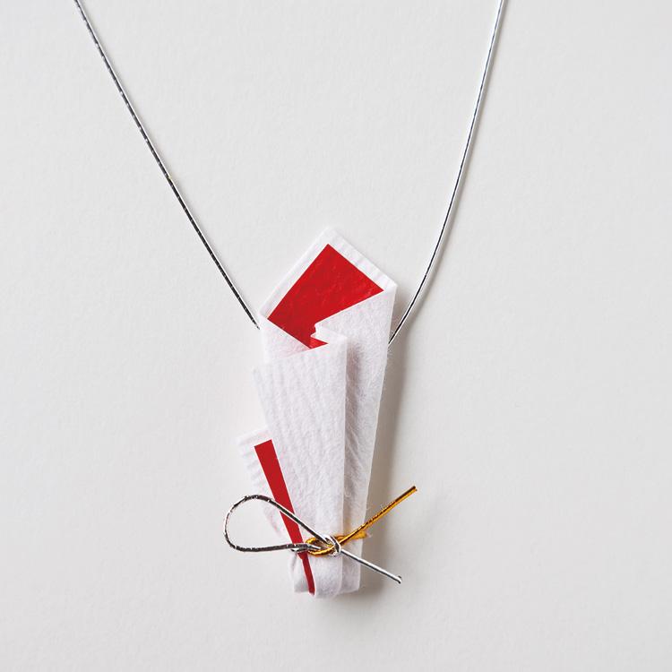 めでたや和紙折形 お正月やお祝いの席をシンプルに飾る 山根式折形 お祝飾り 三個入り 手漉檀紙使用