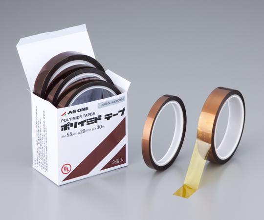 ポリイミドテープWS-190069-3幅×厚み×長さ 19.0mm×0.069mm×33m