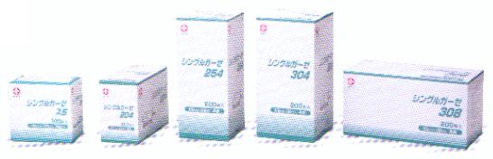 白十字 シングルガーゼ 254 25cmX25cm 一般医療機器 定番キャンバス 200枚入 4折 スーパーセール