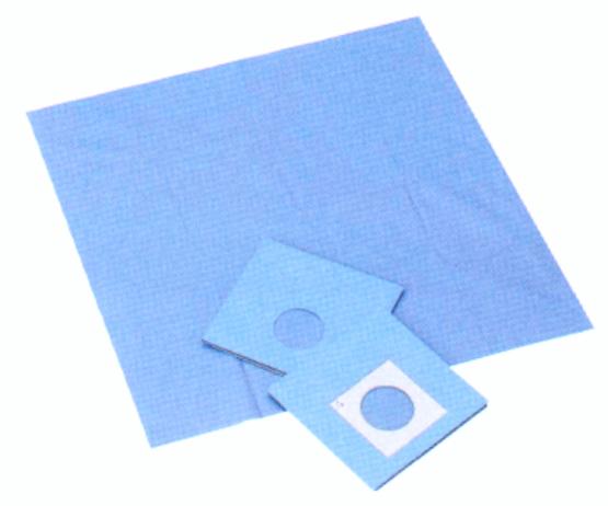 滅菌オオサキ ドレープF150cm×200cm(5cm×8cm楕円穴テープ付) 1枚(20袋)/箱