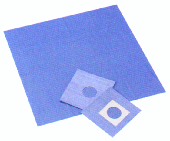 滅菌オオサキ ドレープR60cm×60cm(6.3cm丸穴テープ付) 1枚(50袋)/箱