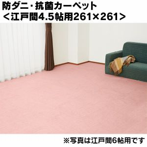 防ダニ・抗菌カーペット<江戸間4.5帖用261×261>