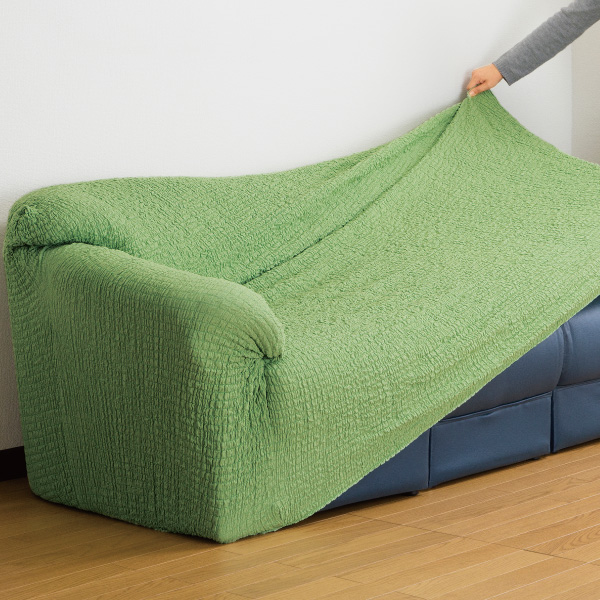 日本製タテヨコ伸縮フィット式ソファーカバー<肘付3人掛け用>