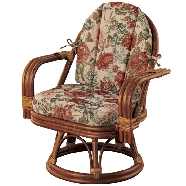 籐ゆったり回転座椅子<ミドルハイタイプ>