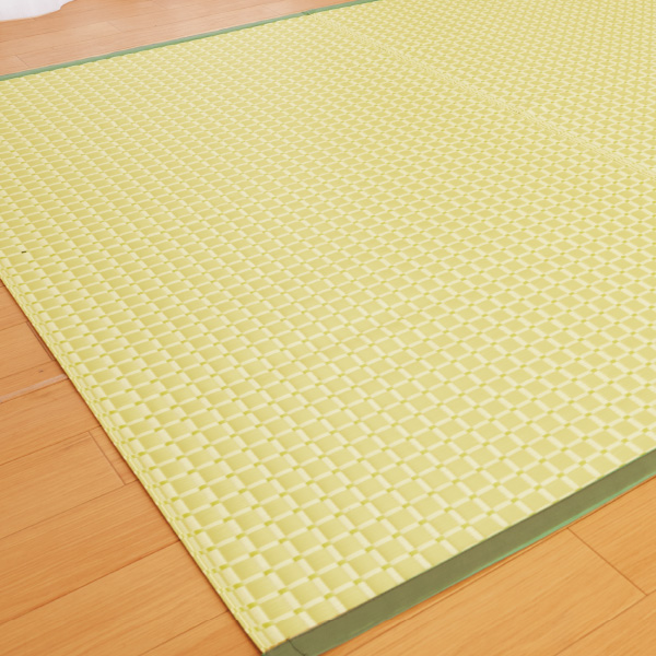 洗えるい草風カーペット<8畳用348×352>