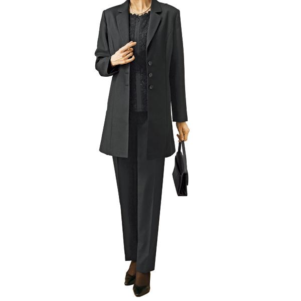 脱ぎ着らくらくブラックフォーマル3点セットスーツ