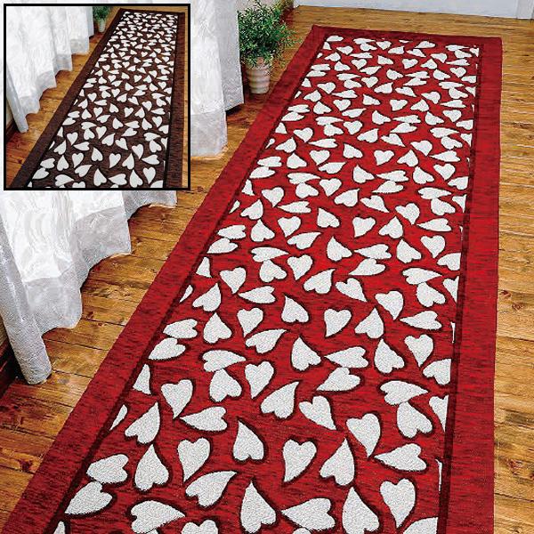 イタリア製ゴブラン織洗えるロングマット<55×240>