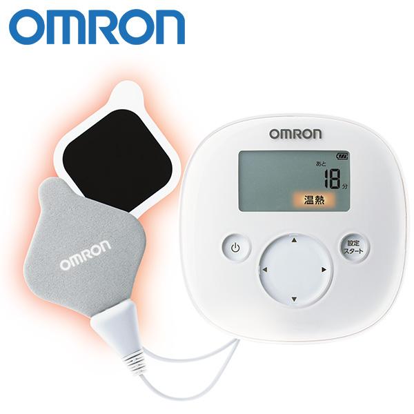 温熱と低周波で 血行を促進し ギフ_包装 心地よく患部を刺激 オムロン omron HV-F321-W 温熱低周波治療器 倉 送料無料