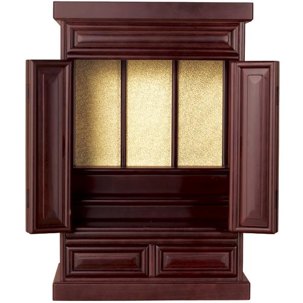紫檀調の本格的な上置き仏壇と収納台!お得なセットもご用意! 紫檀調仏壇<仏壇大>