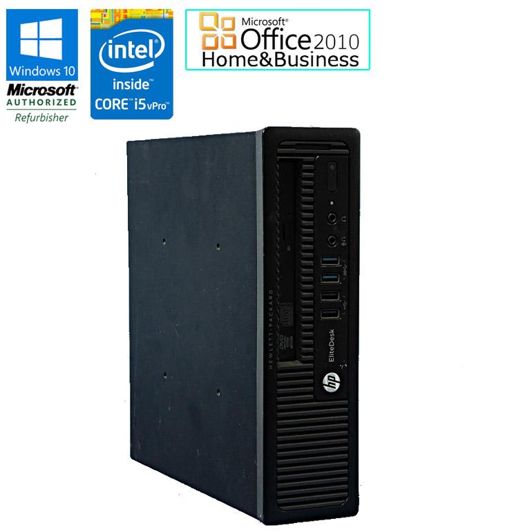 Microsoft Office Home & Business 2010 セット 【中古】 デスクトップパソコン HP EliteDesk 800 G1 USDT Windows10 Pro Core i5 vPro 第4世代 4570S 2.90GHz メモリ4GB HDD500GB DVD-ROMドライブ USB3.0 中古パソコン 初期設定済 送料無料 (一部地域を除く)