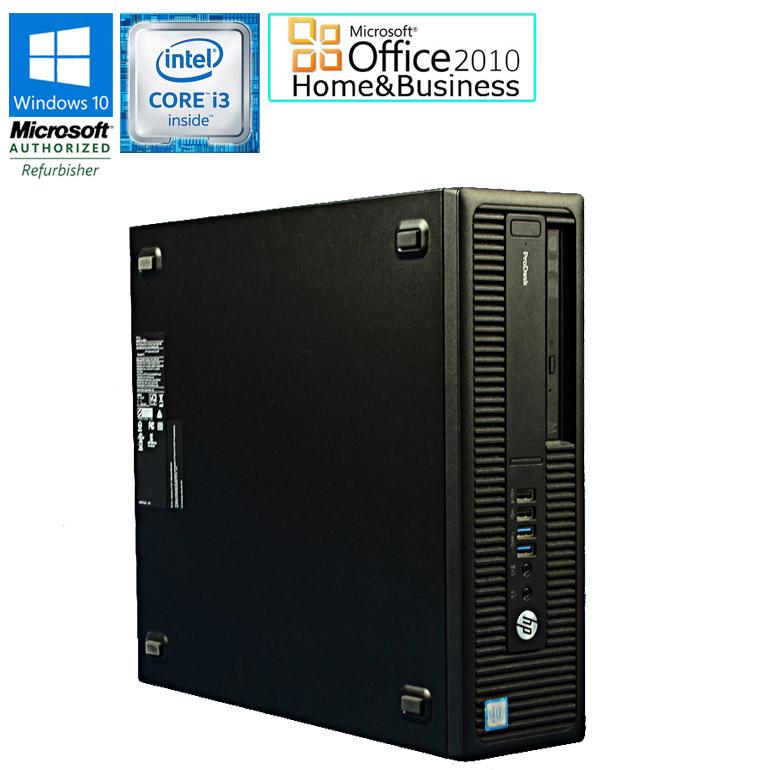 ワード エクセル アウトルック パワーポイントが使えるマイクロソフトオフィス2010付 90日保証 送料無料 ※一部地域を除く Microsoft 爆安 Office Home and Business 2010セット 中古 パソコン 中古パソコン メモリ4GB i3 3.70GHz Windows10 6100 G2 DVDマルチドライブ SFF デスクトップパソコン メーカー公式 初期設定済 HDD500GB 600 ProDesk Core HP