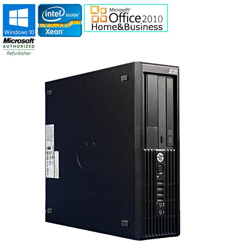 ワード エクセル アウトルック パワーポイントが使えるマイクロソフトオフィス2010付 新品SSD240GB換装済み 90日保証 送料無料 ※一部地域を除く 在庫わずか 新品SSD換装モデル WEB限定 中古 デスクトップパソコン HP Workstation Z220 SSD240GB 3.20GHz DVDマルチドライブ 2010 Windows10 E3-1225v3 ●日本正規品● 中古パソコン Xeon Office Microsoft Business メモリ4GB HDD500GB Home SFF