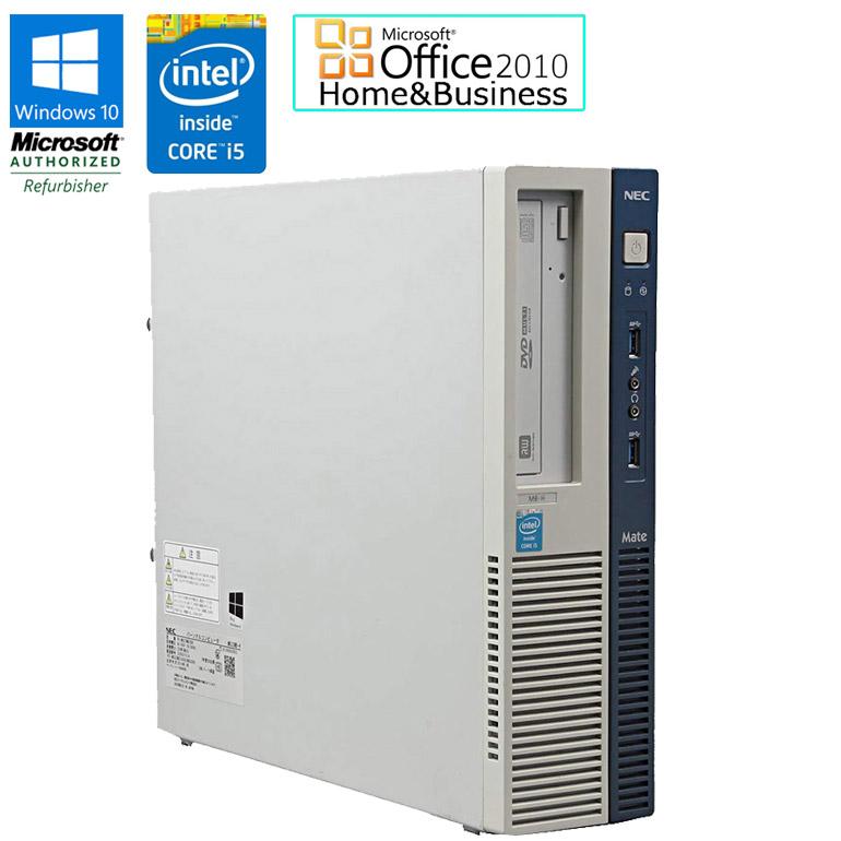 ワード エクセル アウトルック パワーポイントが使えるマイクロソフトオフィス2010付 90日保証 送料無料 ※一部地域を除く 中古 NEC Mate Windows10 中古パソコン パソコン デスクトップパソコン Microsoft Office Home 3.0搭載 MB-Hタイプ i5 セット 初期設定済 2010 3.20GHz MK32MB-H HDD500GB USB 付与 配送員設置送料無料 4570 Business 一部地域を除く Core DVDマルチドライブ メモリ4GB