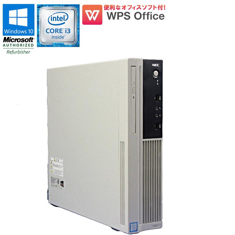 先進の第6世代Core i3 メモリ4GB HDD500GB USB3.0 格安SALEスタート DisplayPort搭載 中古パソコン Office付き 90日保証 送料無料 ※一部地域を除く 限定1台 中古 NEC パソコン Mate WPS DVDマルチドライブ 6100 Core 3.70GHz Pro Office付 DisplayPort MK37LL-T 初期設定済 バースデー 記念日 ギフト 贈物 お勧め 通販 デスクトップパソコン Windows10