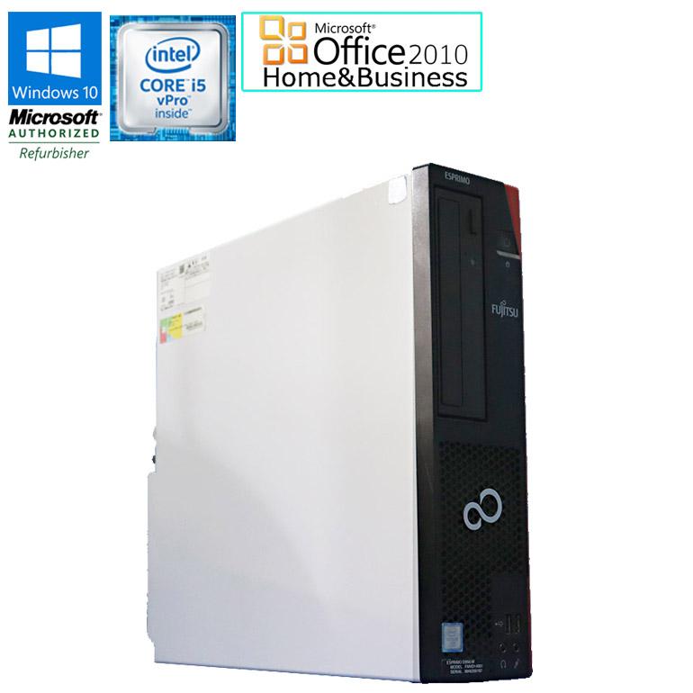 ワード エクセル アウトルック パワーポイントが使えるマイクロソフトオフィス2010付 先進の第6世代のCore i5vProモデル 中古パソコン 送料無料 ※一部地域を除く Microsoft 超人気 Office Home Business 2010 セット 中古 デスクトップ パソコン HDD500GB 富士通 半額 DVDマルチドライブ M USB3.0 90日保証 メモリ4GB 初期設定済 在宅 3.20GHz D956 vPro i5 6500 Core ESPRIMO Windows10