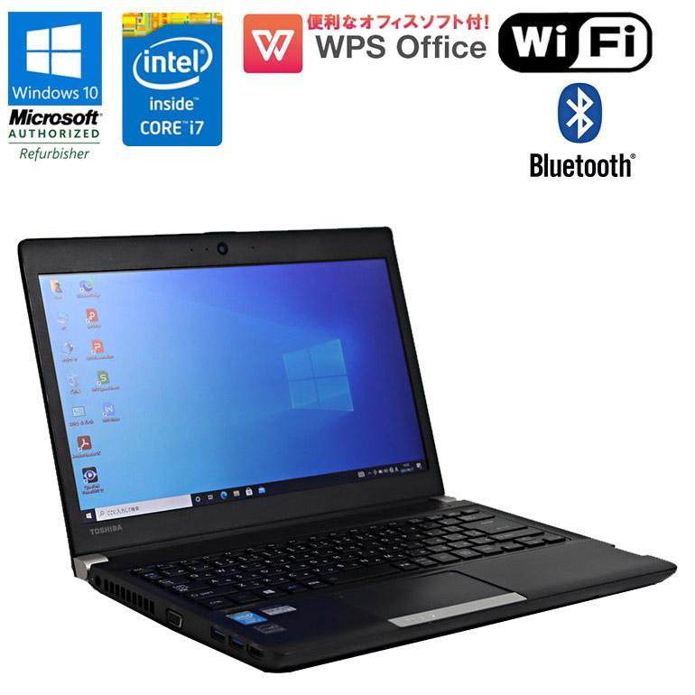 数量限定 持ち歩きに便利 DVDマルチドライブ搭載の軽量パソコン 中古パソコン ノート Office付 90日保証 送料無料 ※一部地域を除く あす楽 中古 限定1台 WPS 東芝 dynabook R734 38KB Core Bluetooth 4700MQ DVDマルチドライブ ノートパソコン パソコン HDD1TB 小型 中古ノートパソコン 日本産 初期設定済 Wi-Fi メモリ8GB i7 Windows10 2.40GHz コンパクト