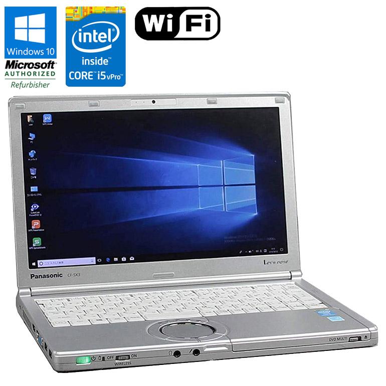 テレワークに最適 軽量モバイルノートPC 第4世代Core i5vPro搭載 Windows10 中古パソコン 新作送料無料 倉庫 ノート 90日保証 送料無料 一部地域を除く 中古 Panasonic Let's note CF-SX3 ノートパソコン Core i5 メモリ4GB モバイルノート テレワーク 2.0GHz HDD320GB 4310U コンパクト DVDマルチドライブ 初期設定済 vPro WEBカメラ