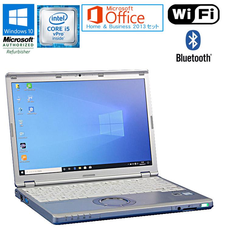 ワード エクセル アウトルック パワーポイントが使えるマイクロソフトオフィス2013付 第6世代Core i5 中古パソコン ノート 90日保証 送料無料 一部地域を除く 中古 Microsoft Office Home Business 即出荷 2013 vPro note Core 6300U 全品最安値に挑戦 ノートパソコン HDD320GB WEBカメラ Let's ドライブレス メモリ4GB セット Panasonic CF-SZ5 12.1型ワイド 2.4GHz Windows10