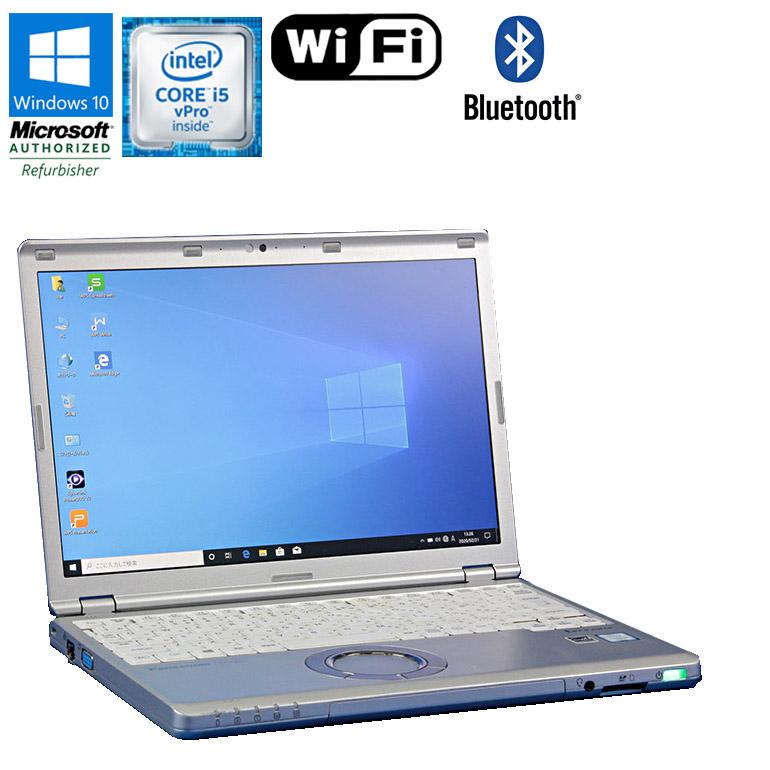第6世代Core i5 中古パソコン ノート 90日保証 送料無料 一部地域を除く 中古 Panasonic Let's note CF-SZ5 Windows10 高額売筋 Core 6300U vPro 2.4GHz 12.1型ワイド WEBカメラ メモリ4GB HDD320GB コンパクト 1920×1200ドット ノートパソコン 使い勝手の良い ドライブレス WUXGA 小型