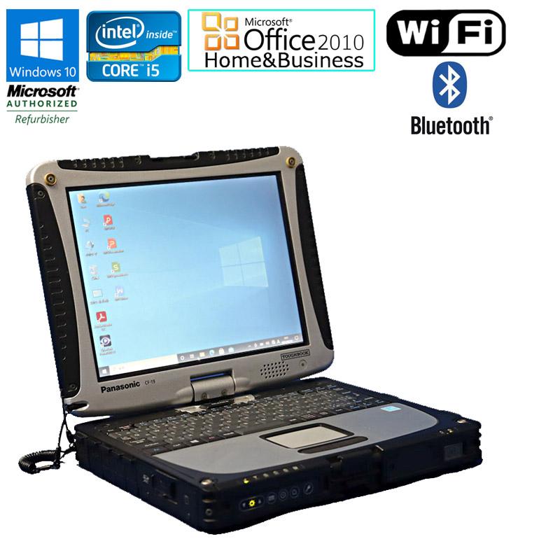 ワード エクセルが使えるMicrosoft Office マイクロソフトオフィス 2010付 タッチペン付属 90日保証 送料無料 ※一部地域を除く Microsoft Home Business 2010 セット 中古 タブレットPC メモリ4GB 3610ME HDD500GB i5 初期設定 Bluetooth 2.70GHz タッチパネル Core 限定価格セール 10.1インチ Windows10 CF-19 年末年始大決算 TOUGHBOOK Wi-Fi Panasonic