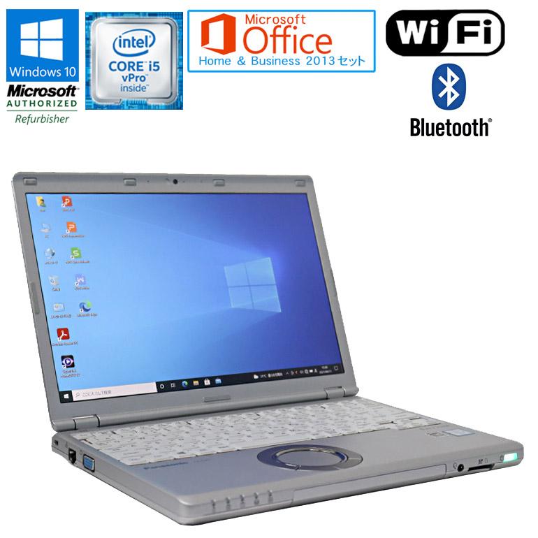 ワード エクセル アウトルック オープニング 大放出セール パワーポイントが使えるマイクロソフトオフィス2013付 SSD搭載モデル 先進の第6世代Core i5 中古パソコン 90日保証 送料無料 一部地域を除く 中古 Microsoft Office Home Business 2013 セット Core Panasonic note 日時指定 12.1型ワイド vPro 1920× WUXGA SSD256GB Windows10 6300U Let's 2.40GHz メモリ8GB ノートパソコン CF-SZ5