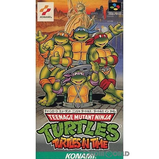 【中古】【箱説明書なし】[SFC]ティーンエイジ ミュータント ニンジャ タートルズ タートルズ イン タイム(TEENAGE MUTANT NINJA TURTLES TURTLES IN TIME/T.M.N.T)(19920724)