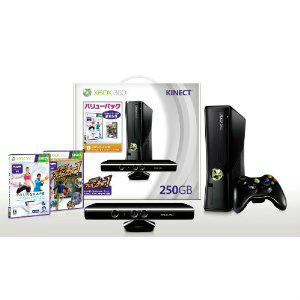【中古】【B品】[本体][Xbox360]Xbox360 250GB+Kinect(キネクト) バリューパック(キネクトアドベンチャー&ユアシェイプ同梱)(RKH-00014)(20111013)