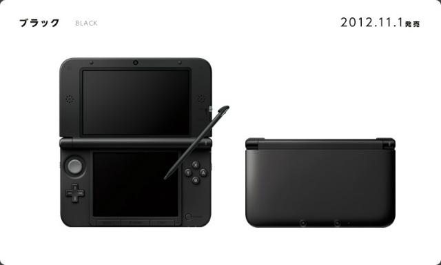 【中古】[本体][3DS]ニンテンドー3DS LL本体 ブラック(SPR-S-KKAA)(20121101)