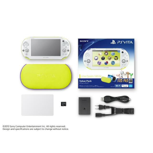 【中古】[本体][PSVita]PlayStation Vita Value Pack ライムグリーン/ホワイト(PCHJ-10014)(20131205)