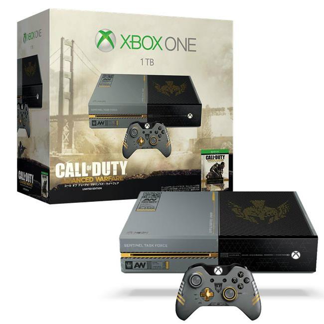 【中古】[本体][XboxOne]Xbox One 1TB コール オブ デューティ アドバンスド・ウォーフェア リミテッドエディション(5C7-00017)(20141113)