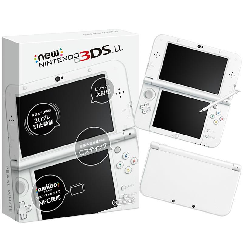 【中古】[本体][3DS]Newニンテンドー3DS LL パールホワイト(RED-S-WAAA)(20150611)