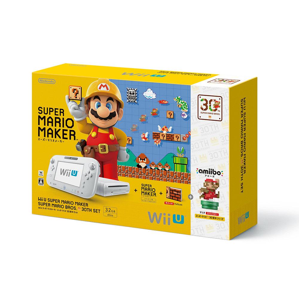 【中古】[本体][WiiU]Wii U スーパーマリオメーカー スーパーマリオ30周年セット(WUP-S-WAGZ)(20150910)