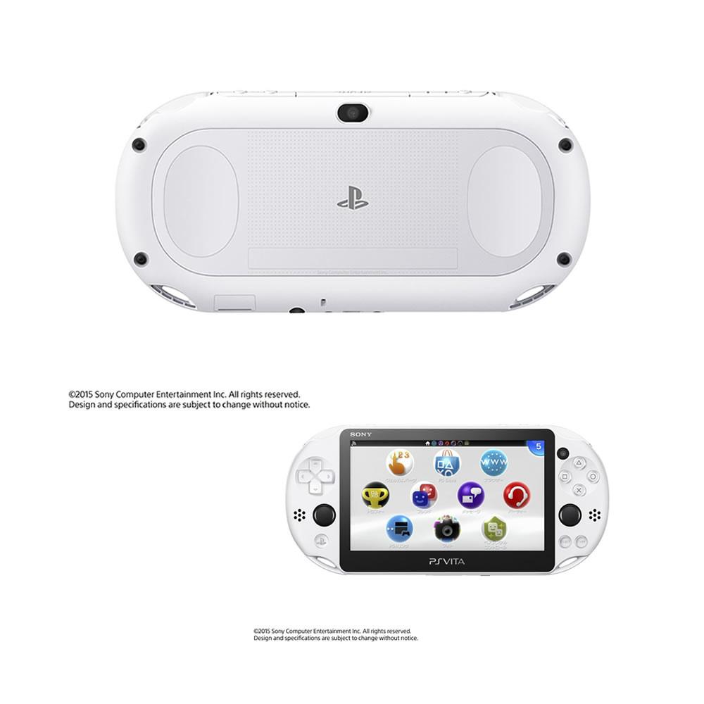 【中古】[本体][PSVita]PlayStationVita Wi-Fiモデル グレイシャー・ホワイト(PCH-2000ZA22)(20150917)