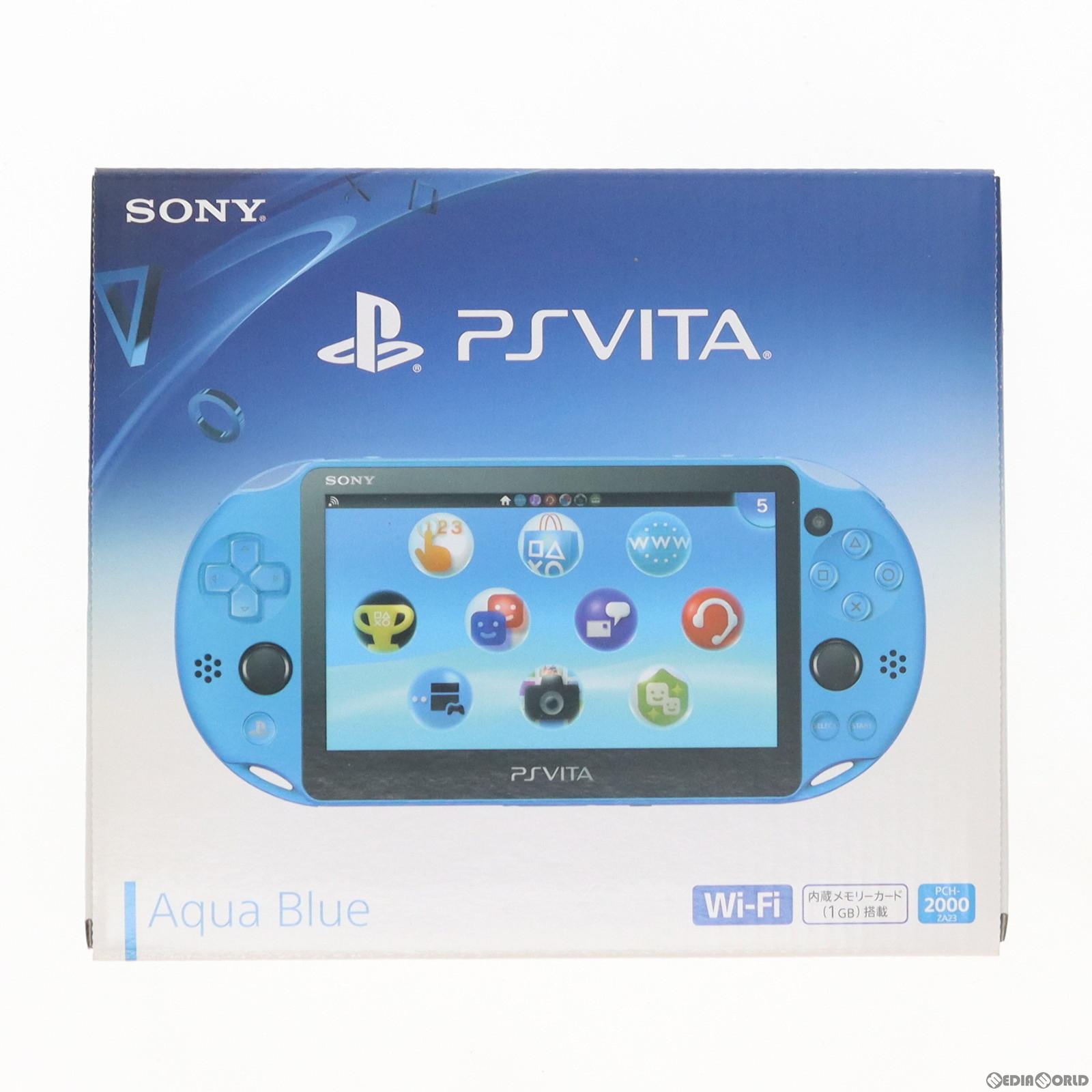 【新品即納】[本体][PSVita]PlayStationVita Wi-Fiモデル アクア・ブルー(PCH-2000ZA23)(20150917)