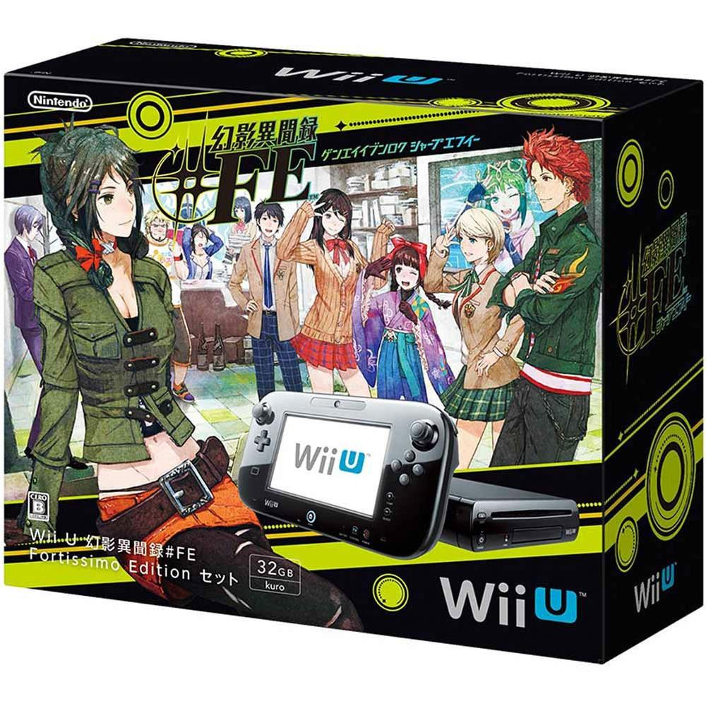【中古】[本体][WiiU]Wii U 幻影異聞録#FE Fortissimo Edition セット(Wii Uプレミアムセット黒/kuro/クロ同梱版)(WUP-S-KAHN)(20151226)