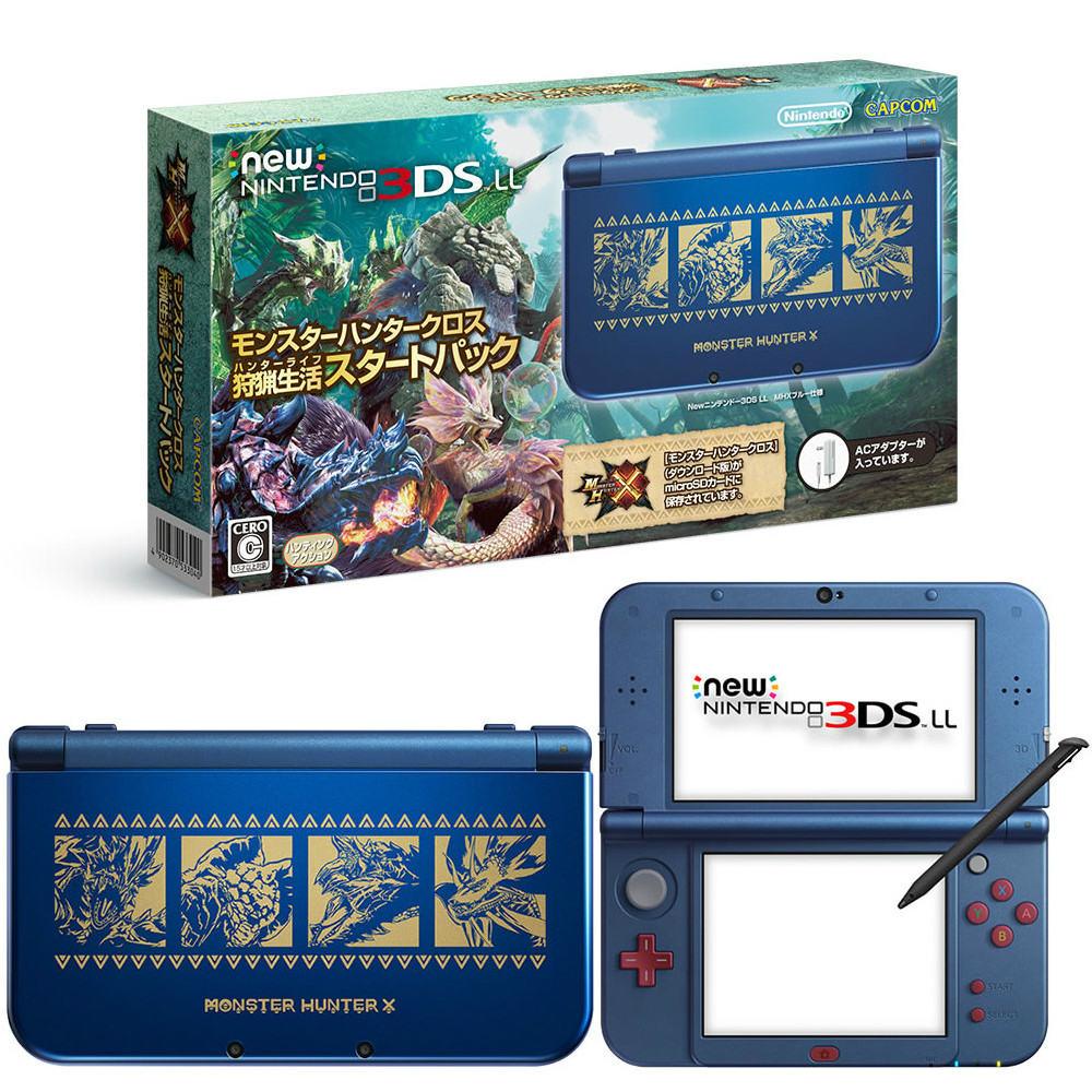 【中古】[本体][3DS]Newニンテンドー3DS LL モンスターハンタークロス 狩猟生活スタートパック(RED-S-BBDF)(20160428)