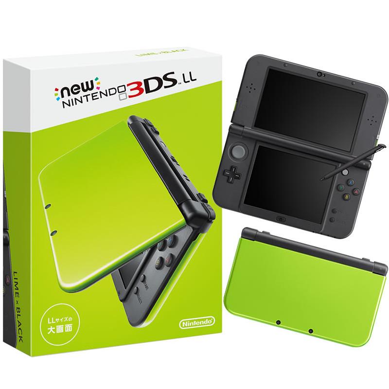 【新品即納】[本体][3DS]Newニンテンドー3DS LL ライム×ブラック(RED-S-MAAA)(20160609)