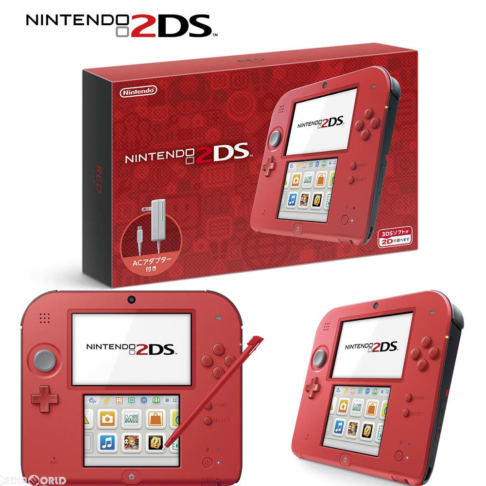 【新品即納】[本体][3DS]ニンテンドー2DS レッド(FTR-S-RCAA)(20160915)