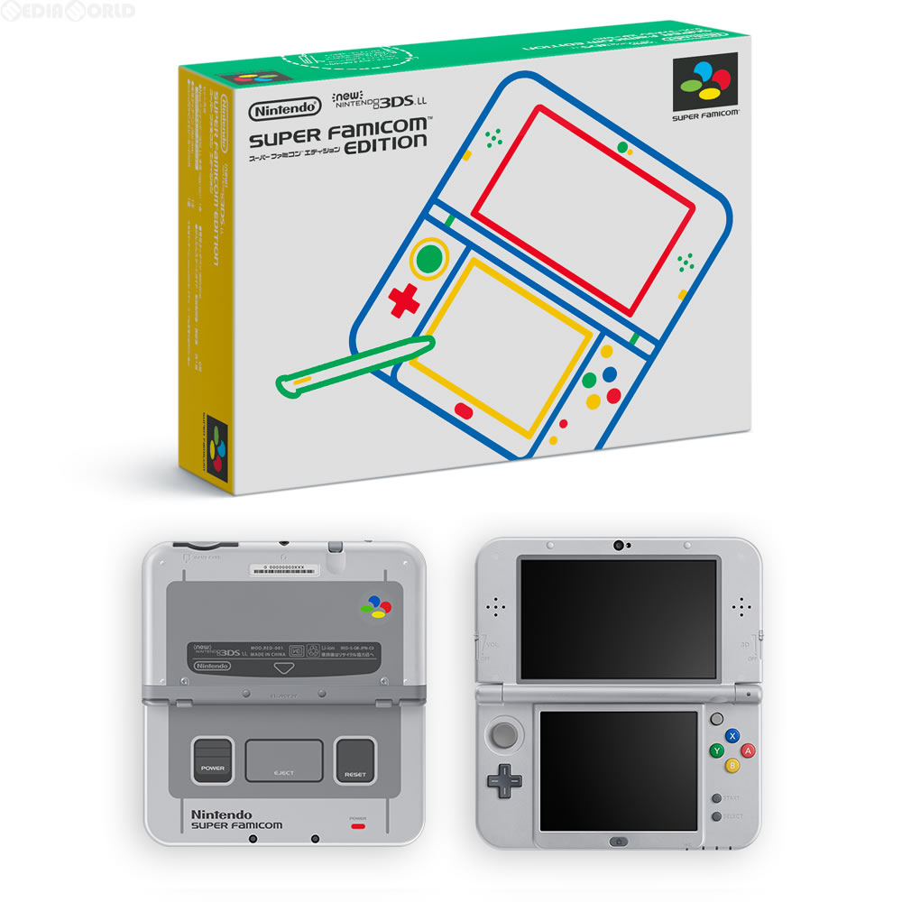 【中古】[本体][3DS]Newニンテンドー3DS LL スーパーファミコン エディション(RED-S-GBAA)(20160731)